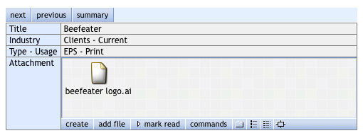 eRoom Interface Example